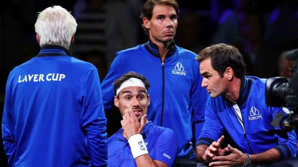 Nadal, Federer y Fognini en la Laver Cup