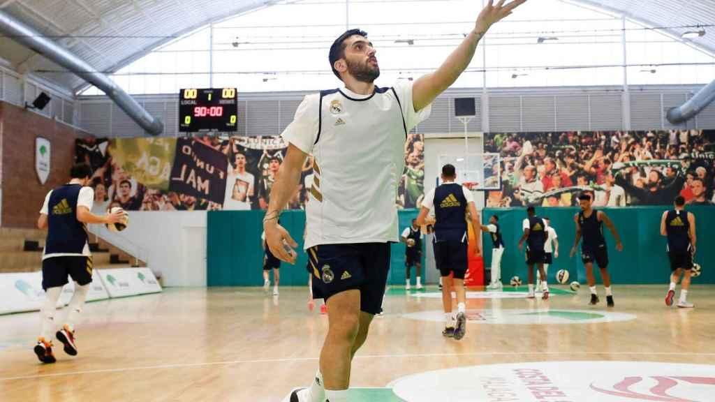 Facundo Campazzo, preparando el partido ante el Valencia de las semifinales de la Copa del Rey