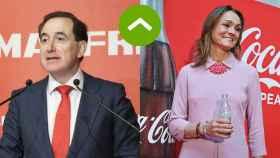 COMO LEONES: Antonio Huertas (Mapfre) y Sol Daurella (Coca-Cola)