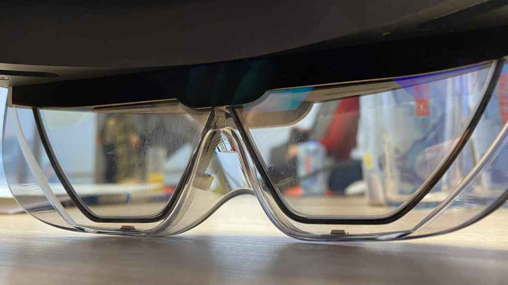 Las HoloLens, desde dentro.