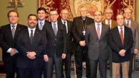 Los Caballeros del Santo Sepulcro despidieron al arzobispo Rodríguez con un sencillo homenaje