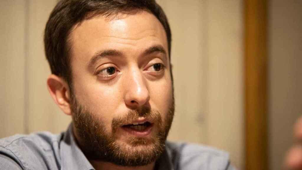 El politólogo argentino Agustín Laje, durante la entrevista con El ESPAÑOL.
