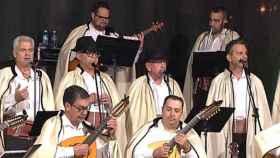 Los Sabandeños, durante una actuación.