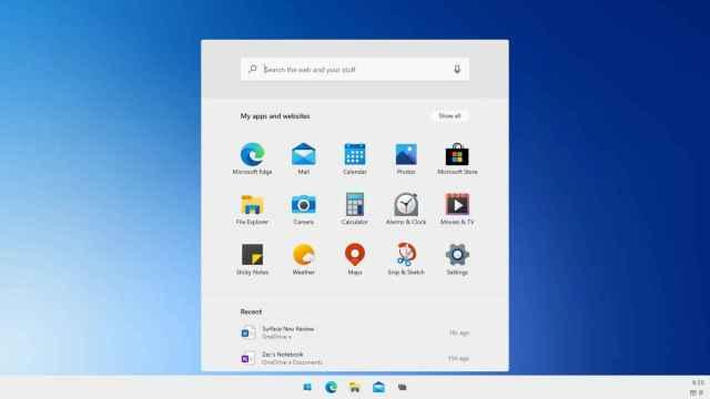 Nuevo menú de inicio de Windows 10X