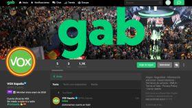 La cuenta de Vox en Gab.