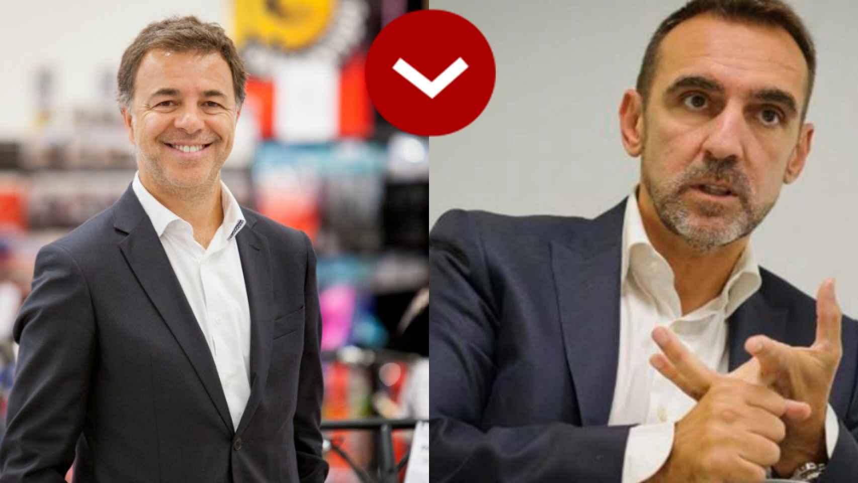 A LOS LEONES: Mário Pereira (Worten) y José Luis Saiz (Bimbo)