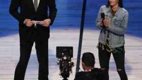 Pau Gasol, durante su discurso antes del 'Rising Stars Challenge' de la NBA