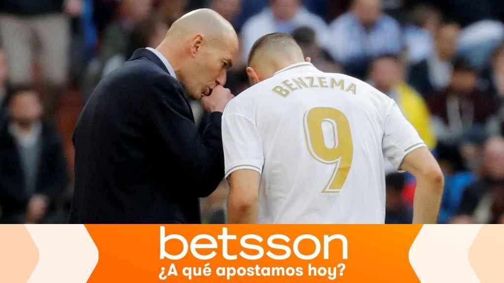 Zinedine Zidane y Karim Benzema