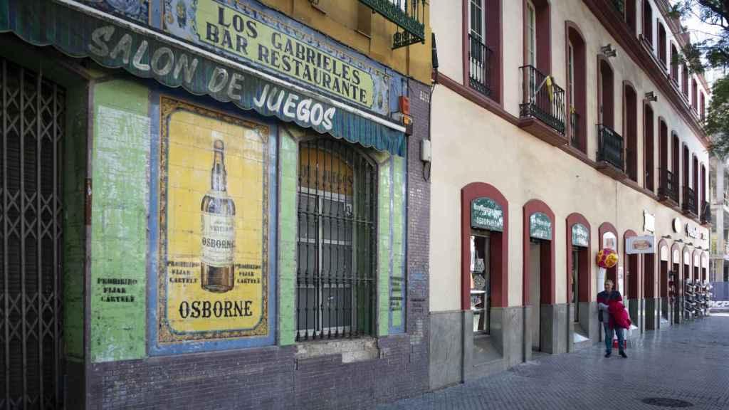 Antigua localización del pub Arny en Sevilla, hoy reconvertida en una tienda de regalos.