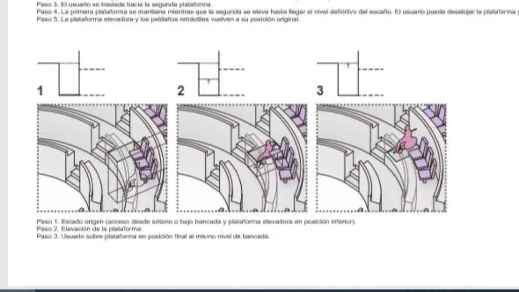 Segunda propuesta: un sistema de elevación personal con acceso desde el sótano.