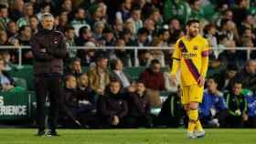 Setién y Messi