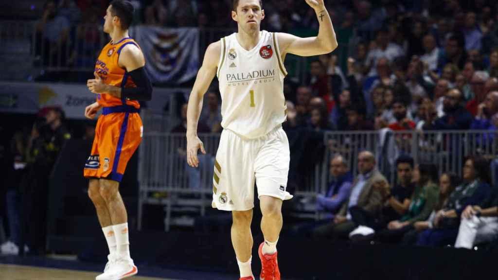 Causeur, durante el partido de Copa del Rey entre Real Madrid y Valencia Basket