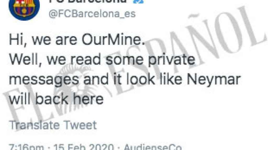 Hackean las cuentas del Barcelona