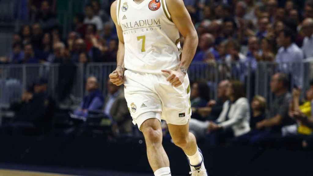 Campazzo, durante el partido de Copa del Rey entre el Real Madrid y Valencia Basket