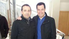 Guillermo Casquet, junto al presidente de Andalucía, Juanma Moreno.