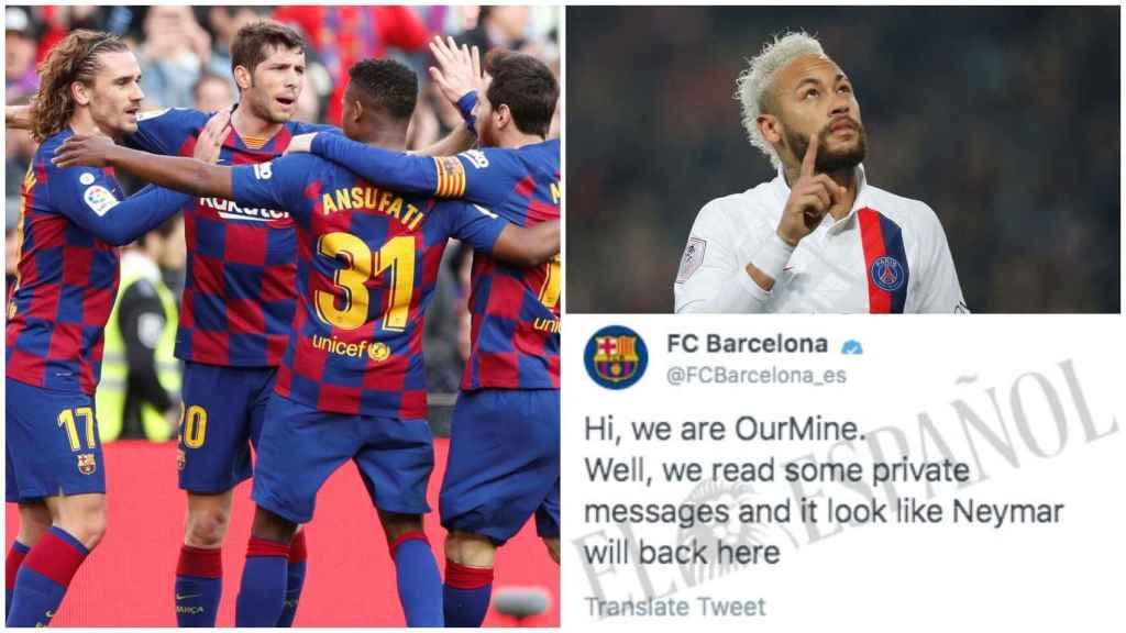 Hackean las cuentas del Barça y anuncian la vuelta de Neymar