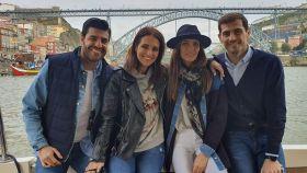 Las dos parejas han recorrido juntas la ciudad donde residen Iker y Sara.