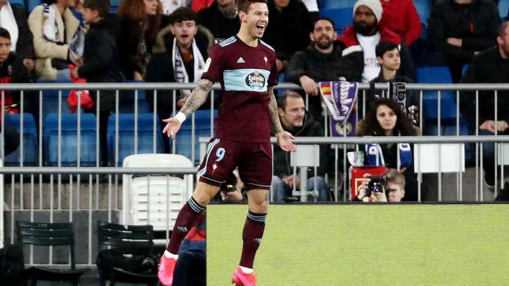 Fedor Smolov celebra su gol al Real Madrid