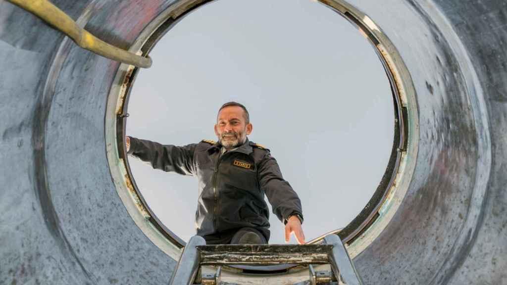 El comandante jefe de la flotilla de submarinos en el Arsenal de Cartagena, Ernesto Zarco.