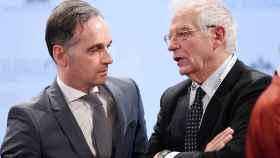 El Alto Representante Josep Borrell, junto a Heiko Maas, ministro de Exteriores de Alemania.