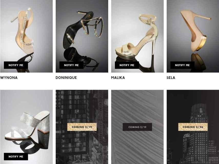 Primeros cinco pares de zapatos de la colección de JLo.