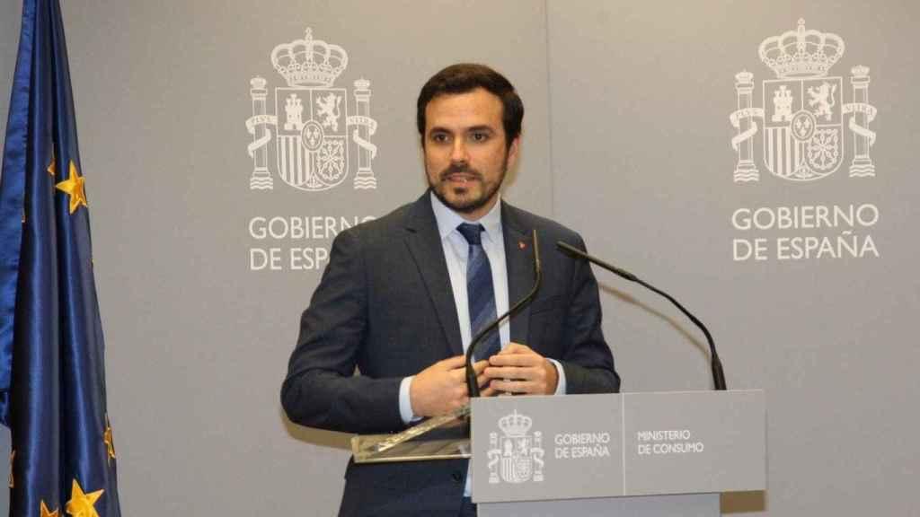 El ministro, Alberto Garzón, ha anunciado las nuevas medidas para regular el juego.