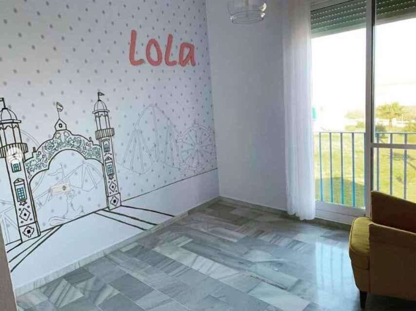 Decoración del cuarto de Lola, la hija de Toñi Moreno.