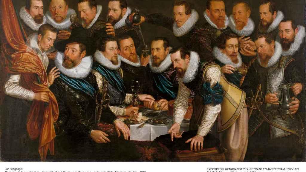 'Banquete de la guardia cívica', de Jan Tengnagel, otra de las obras de la exposición.