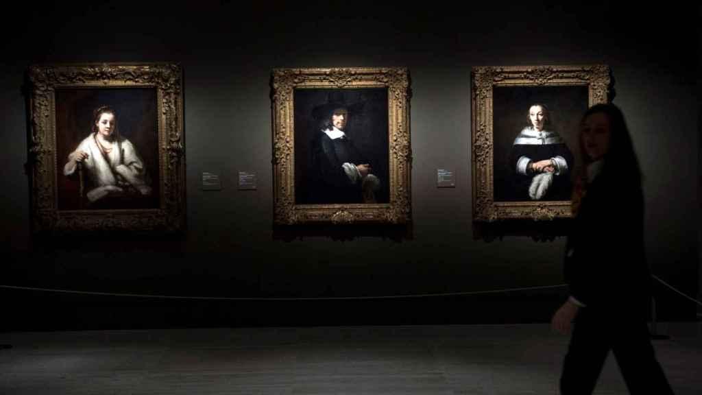 Varias de las obras de Rembrandt recogidas en la muestra.