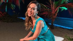 Mónica Naranjo en 'La isla de las tentaciones' en una imagen de sus redes sociales.