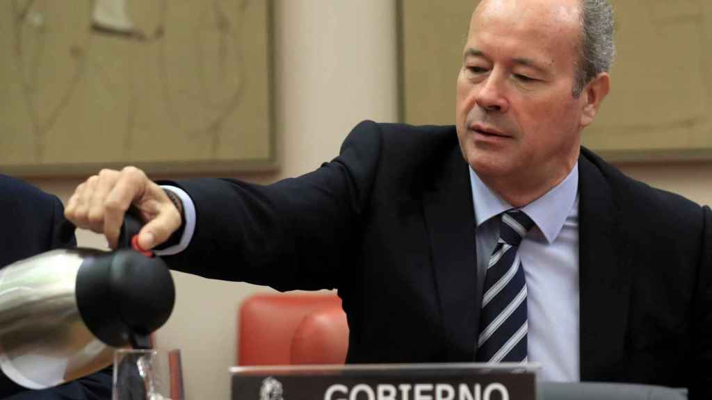 El ministro Juan Carlos Campo, en la Comisión de Justicia.