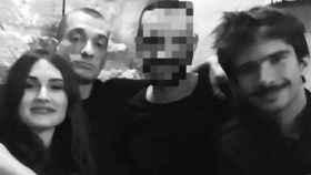De izquierda a derecha: Alexandra de Taddeo; Piotr Pavlensky y Juan Branco.