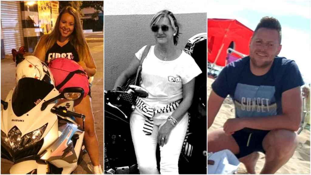Tres de los fallecidos este fin de semana en las carreteras españolas.