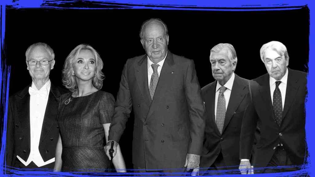 Álvaro de Orleans, Corinna zu Sayn-Wittgenstein, el rey emérito, Alberto Alcocer y Alberto Cortina.