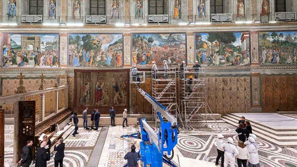 Estas obras de arte fueron un encargo del papa León X a Rafael.