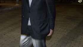 El político Javier Solana, uno de los rostros conocidos que acudieron al tanatorio.