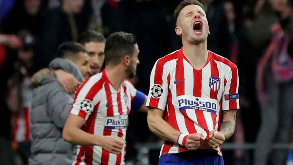 La rabia de Saúl tras el pitido final en el partido ante el Liverpool