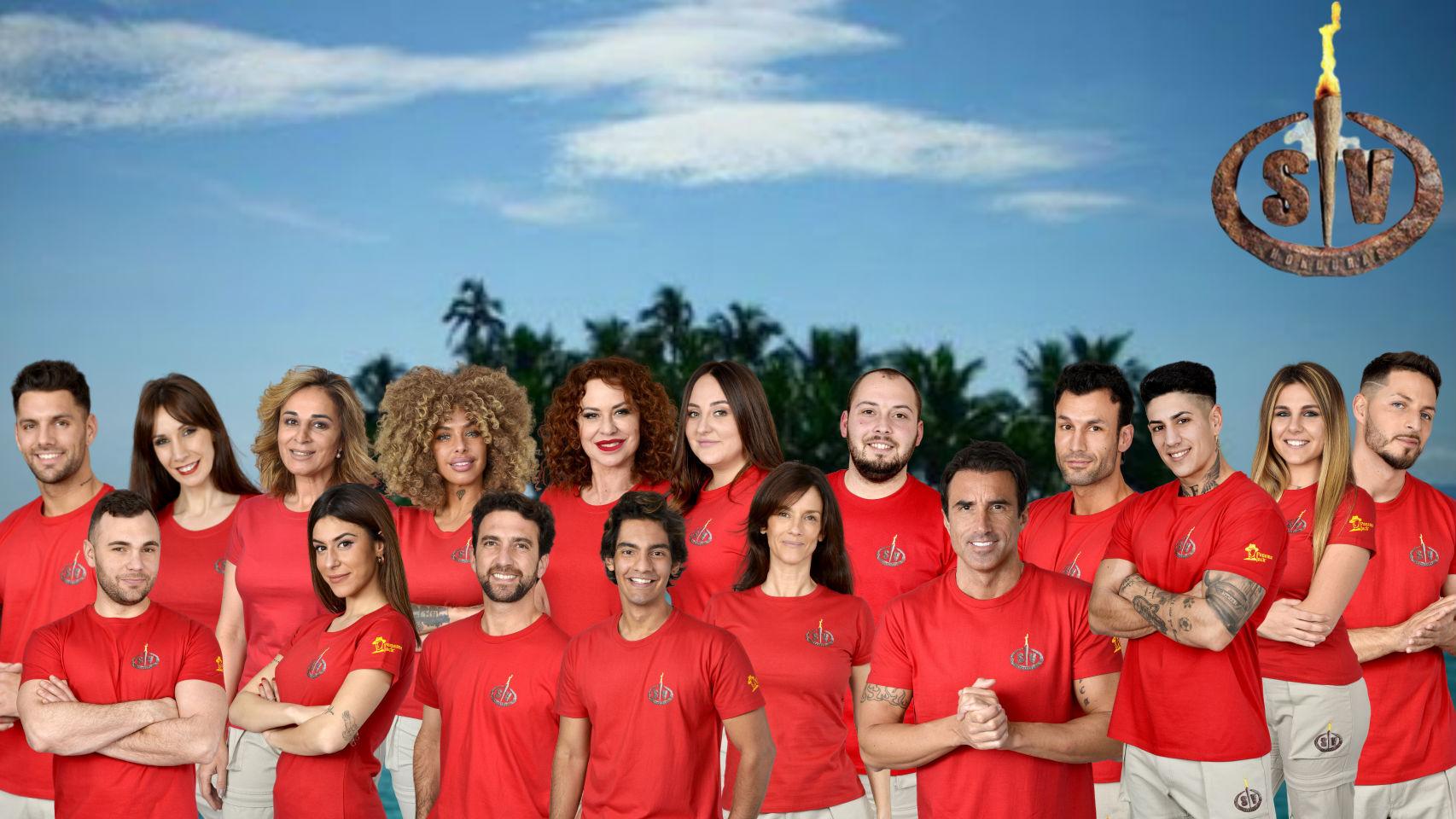 Los concursantes de 'Supervivientes', en un montaje de JALEOS.