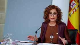 La portavoz del Gobierno, María Jesús Montero, tras el Consejo de Ministros.