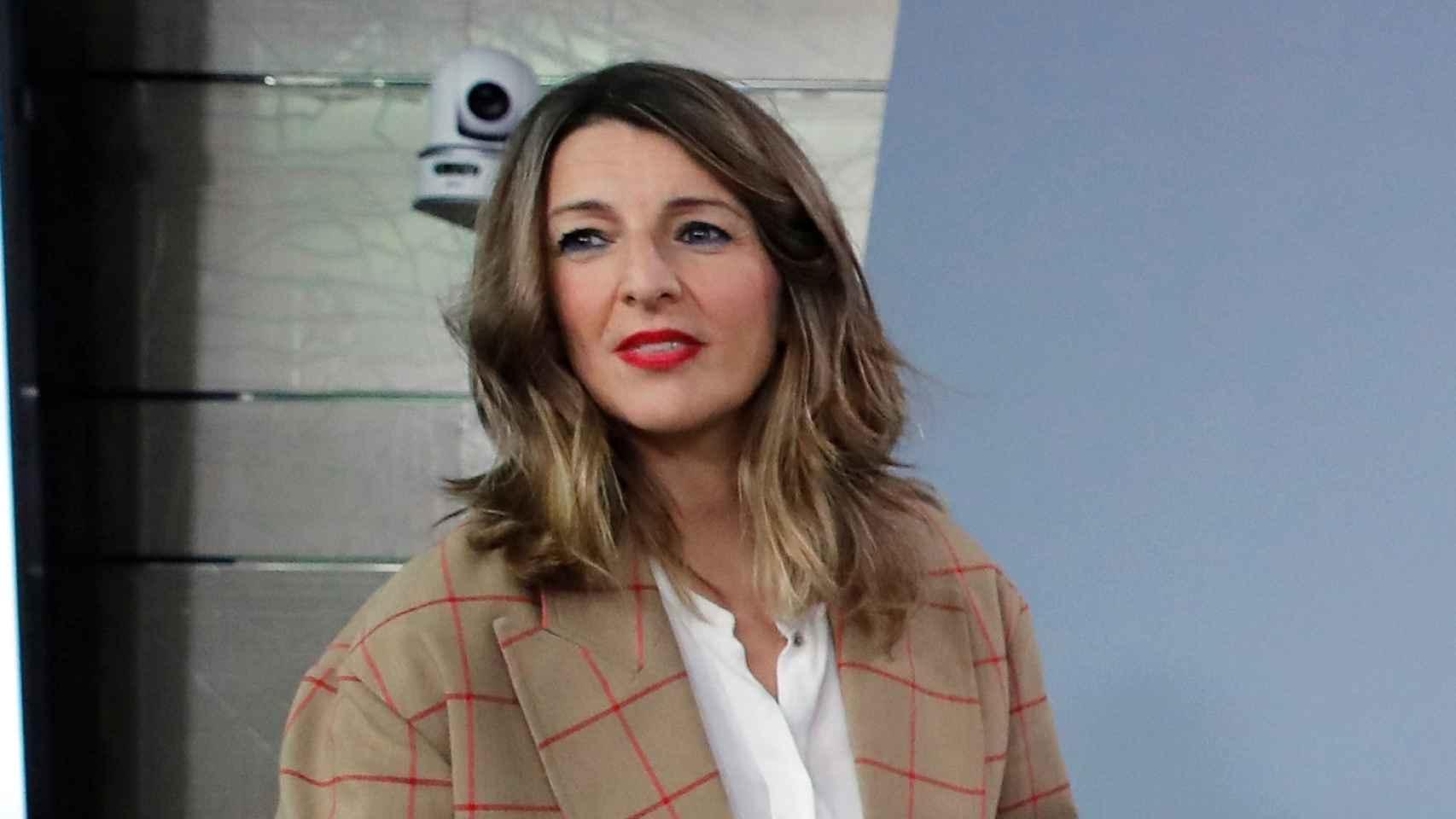 Yolanda Díaz, ministra de Trabajo en la rueda de prensa posterior al Consejo de Ministros.