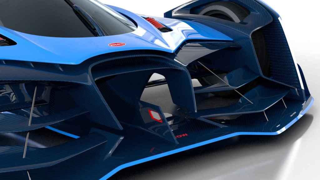 El frontal está inspirado en el de los Bugatti clásicos