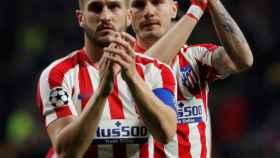 Koke y Saúl Ñíguez, tras el Atlético - Liverpool