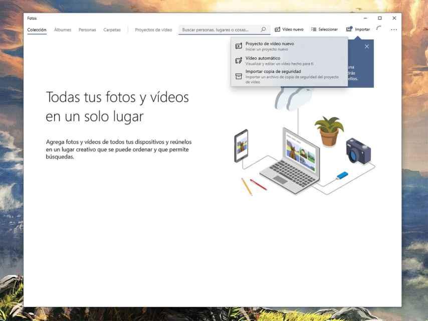 Editor de vídeos de la app de Fotos.