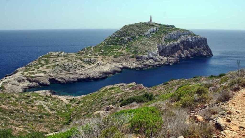 Vista aérea de la isla de Cabrera.