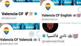 La cuentas de Twitter del Valencia