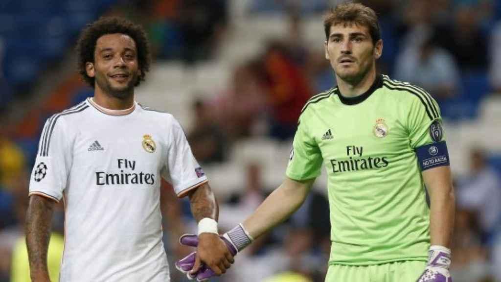 Marcelo y Casillas, en el Real Madrid