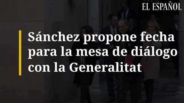 Sánchez propone fecha para la mesa de diálogo con la Generalitat