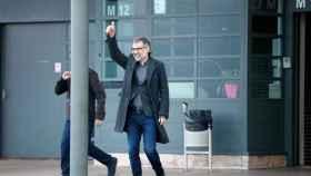 Jordi Cuixart sale de la prisión de Lledoners para disfrutar de su permiso.