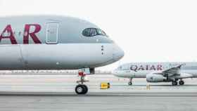 Avión de Qatar Airways.