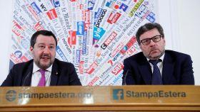 Matteo Salvini junto a Giancarlo Giorgetti.